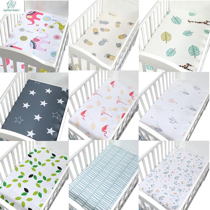 1 Stks 130*70 Cm De Beste Gift Pasgeboren Baby Wieg Hoeslaken Zacht Ademend Baby Bed Matrashoes Potector Cartoon Pasgeboren Bed