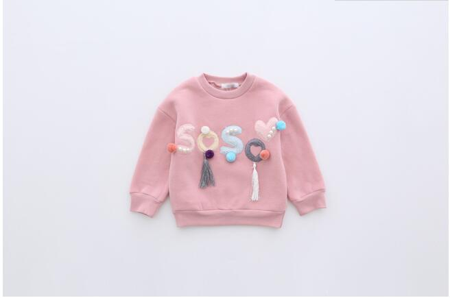 HTB1f7O8ab I8KJjy1Xaq6zsxpXaN - YG31885640 2017 Autumn Baby Girl Top Fashion Solid Print Flower Toddler Girl Clothes Full Sleeve Kids Pullover Girls Clothes