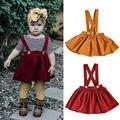 Одежда для маленьких детей, юбка на подтяжках для маленьких девочек, комбинезоны, сарафан, одежда, От 0 до 3 лет - фото