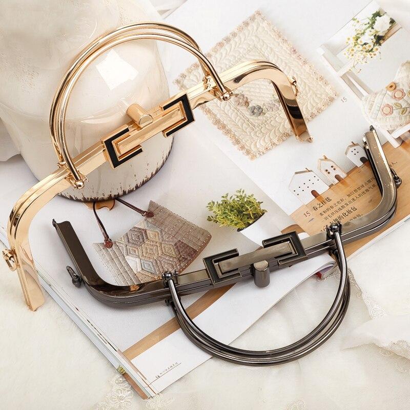 1 pcs Size 28.5 cm Maleta De Ferramenta DIY Accesssories For Bags Luggage Replacement Parts O Bag Handle New Metal Purse Frame