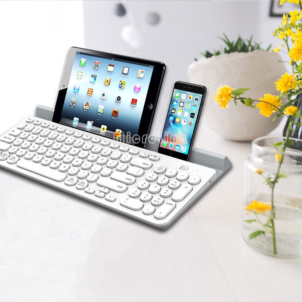 Universal Mobile Wireless Bluetooth Keyboard for iPad for iphone / laptop Tablet Keyboard with Stander iK6650 portable pu leather wireless keyboard case for iphone protective mobile phone with bluetooth keyboard for iphone
