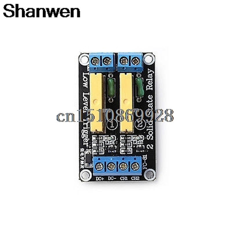 Relay 2 Channel SSR Solid State Relay High-low Trigger 5A 24V For Arduino UNO R3 4 channel ssr solid state relay high low trigger 5a 3 32v for uno r3 h02