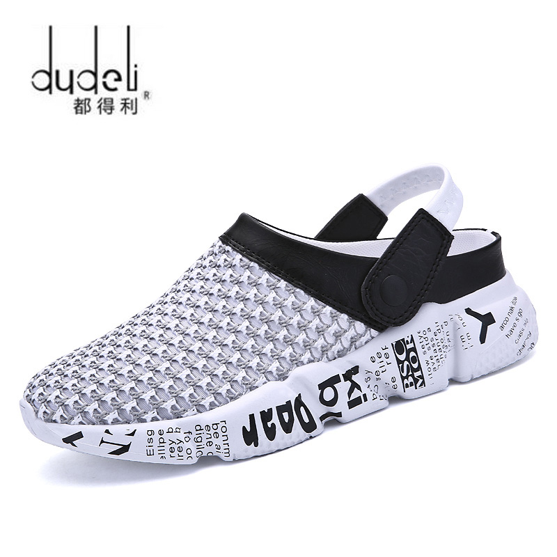 Summer Men Sandals Mesh Casual Shoes Beach Slippers Clogs Male Sneaker Clogs Man Breathable Sandalias Zapatos Hombre Size 39-46