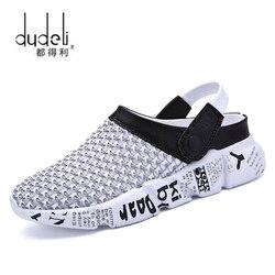 Summer Men Sandals Mesh Casual Shoes Beach Slippers Clogs Male Sneaker Clogs Man Breathable Sandalias Zapatos Hombre Size 39-46