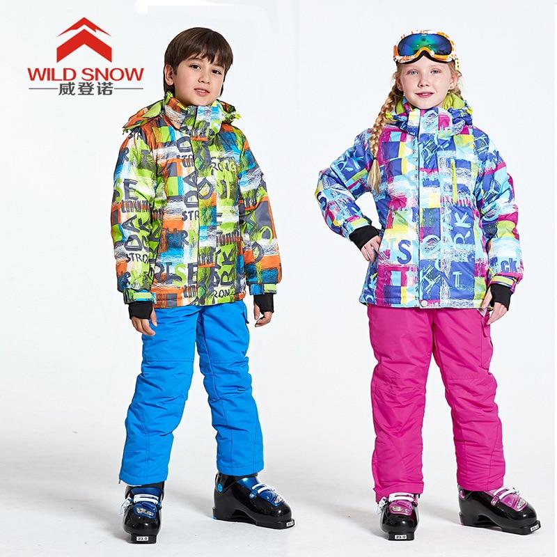 Delle Ragazze dei ragazzi Sci Giubbotti + Pantaloni Inverno Impermeabile Antivento Da Sci Per Bambini Set Per Bambini Allaperto Caldo Snowboard Con Cappuccio Vestiti di Sport 2 pzDelle Ragazze dei ragazzi Sci Giubbotti + Pantaloni Inverno Impermeabile Antivento Da Sci Per Bambini Set Per Bambini Allaperto Caldo Snowboard Con Cappuccio Vestiti di Sport 2 pz