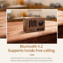 Portable Retro Bluetooth Speaker Wood 5W Loudspeaker