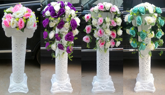 Wedding road lead column wedding decoration hollow out plastic wedding road lead column wedding decoration hollow out plastic roman pillars 6pcslot wholesale wedding junglespirit Choice Image