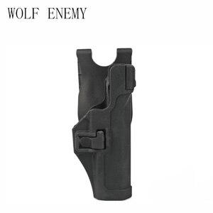 Тактический Serpa сокрытие быстро правая рука пистолет кобура W/куртка слот обязанность петля ремня для Glock 17 19 22 23 31 32