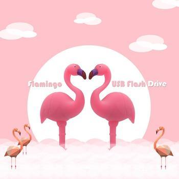 Hot Flamingo USB Flash Drive Animal Pendrive gift Computer Memory Stick usb Stick 64gb 32gb 16gb 8gb Flash USB