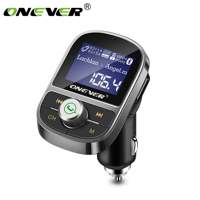 ONEVER HY29 Bluetooth FM משדר רכב MP3 נגן 3.1A USB תשלום תמיכה EQ הגדרת מד מתח TF כרטיס U דיסק AUX מתוך