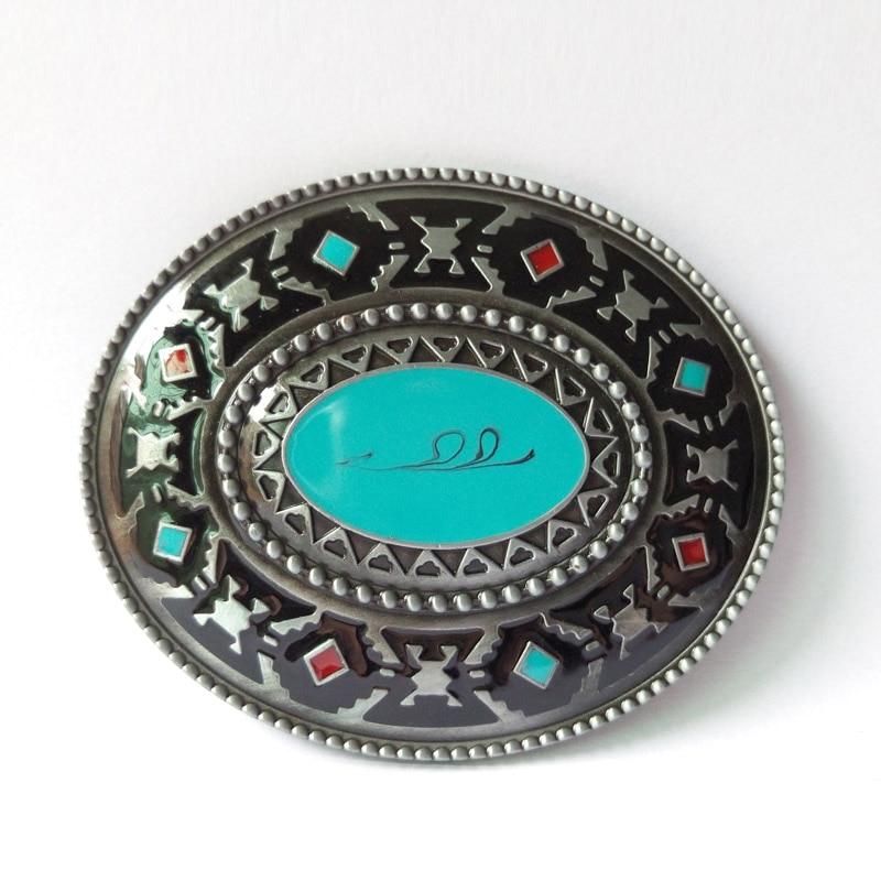 T-DISOM Western Brass Cool Belt Buckles CowBoy Metal Buckles Sesuai Untuk 4cm Lebar Belt Drop penghantaran