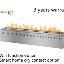 36 дюймов умный wifi Пульт дистанционного управления серебристый или черный этанол Электрический настенный камин