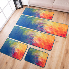 Big Living Room Carpet Oil Painting Rug Modern Kitchen Brief Carpet BedRoom Thick Colorful Bedside Carpet Fashion Doormat