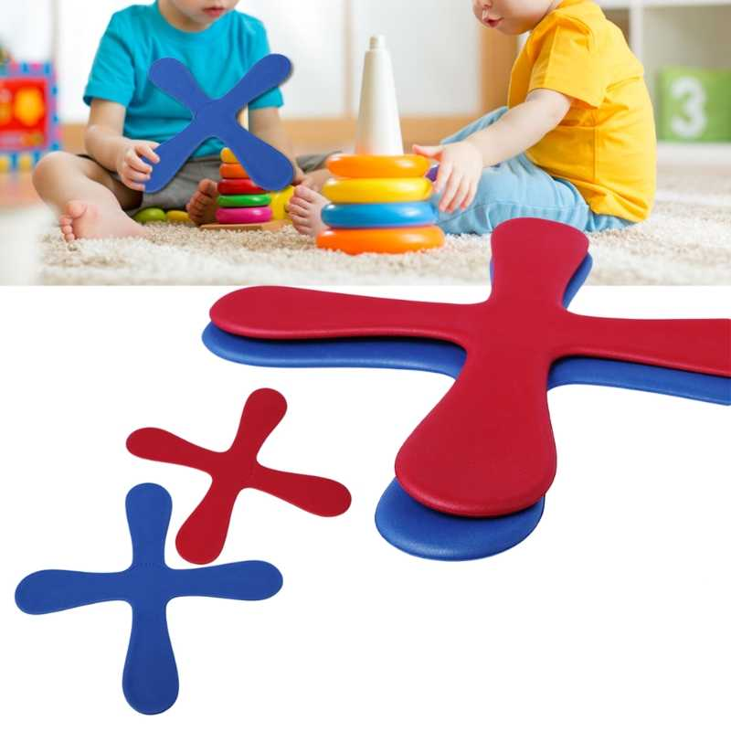 EVA Four Leaves Boomerang Outdoor Fun Toy Sport Throw Catch Kids Toy