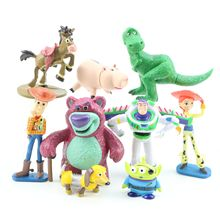 9pcs/lot Toy Figure Buzz Lightyear Woody Jessie Rex Mini Baby horse figure Toys B537