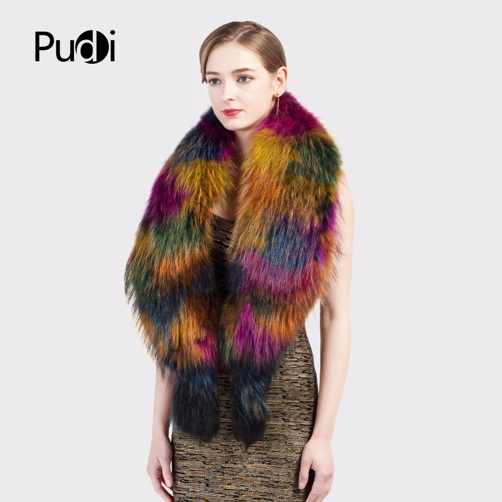 brand fur raccoon wrap