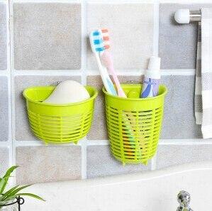 Soap Mold Holder Toothbrush Bathroom Shelf Set Storage Basket
