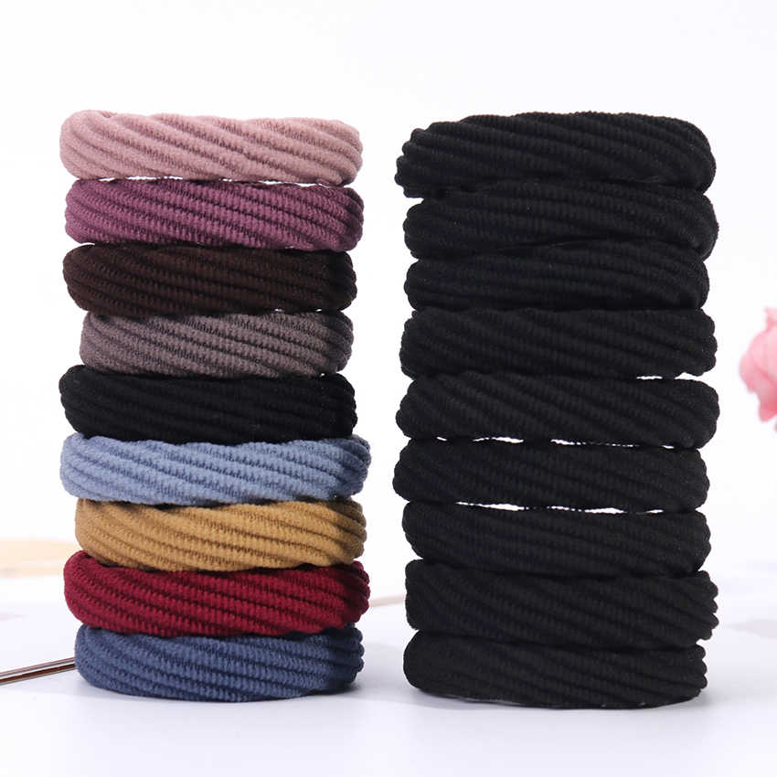 10PCS Women Girls Simple Basic Elastic Hair Bands Tie Gum Scrunchie Ponytail Holder Rubber Bands Fashion Hair Accessories