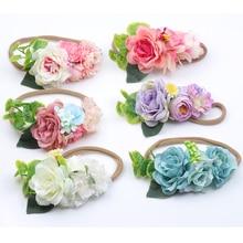 New Baby Flower Headband 6Colors Hair Bands Handmade accessories for Children Newborn Toddler boho Headwear