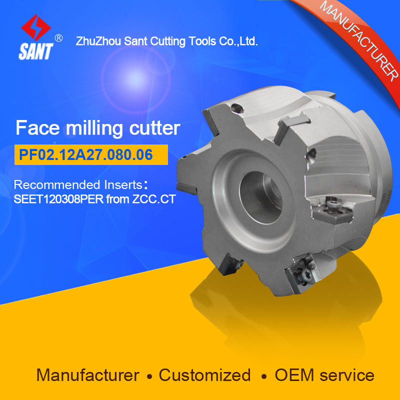 Mached insert SEET120308PER Indexable milling cutter milling tools facing cutter cutting FMP02-080-A27-SE12-06/PF02.12A27.080.06Mached insert SEET120308PER Indexable milling cutter milling tools facing cutter cutting FMP02-080-A27-SE12-06/PF02.12A27.080.06