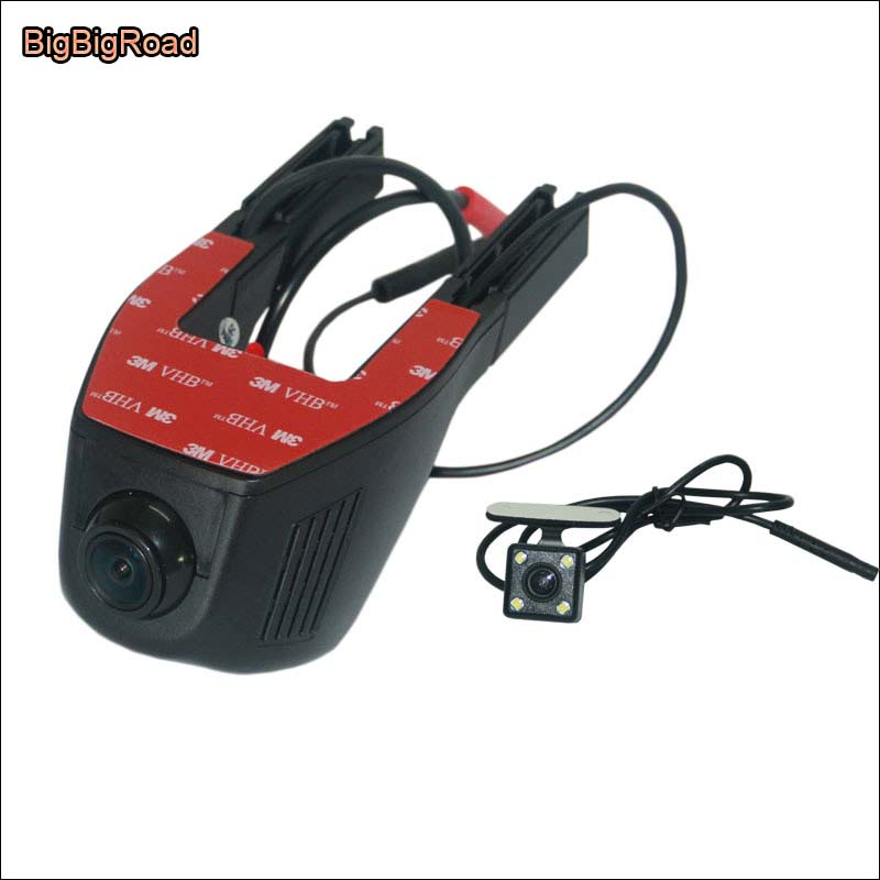 BigBigRoad Car Dash Cam APP Control Car Wifi DVR For Jeep Compass  Novatek 96658 Dual Camera Car Black Box Camcorder