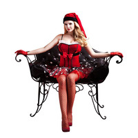 Women Sexy Christmas Festival Cosplay Costume Red Hot Erotic Dress Temptation Sexy Lingerie Adult Female Fancy Halloween Uniform