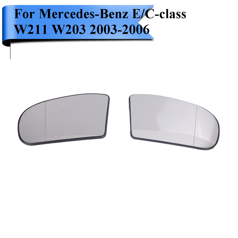 Car Wide Angle Heated Rearview Mirror Glass For Mercedes Benz W211 W203 C230 C240 C280 C320 C350 E500 Left / Right W120