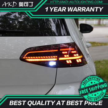 AKD tuning cars Tail lights For VW Golf 7 Golf MK7 Golf 7.5 Taillights LED DRL Running lights Fog lights angel eyes Rear parking