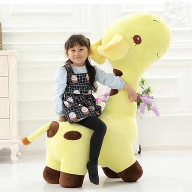 Fancytrader Big Plush Giraffe Chair 125cm Stuffed Animals Giraffe Sofa Toy  Could Load 80kg On The