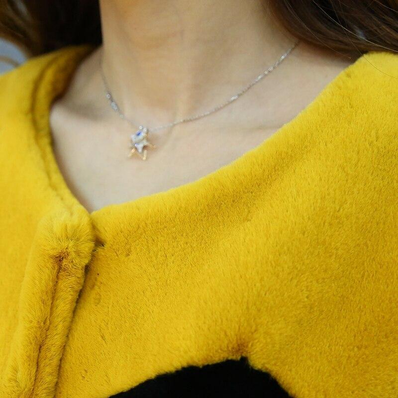 Nerazzurri Çok renkli sahte kürk palto renk bloğu kadın zarif - Bayan Giyimi - Fotoğraf 5