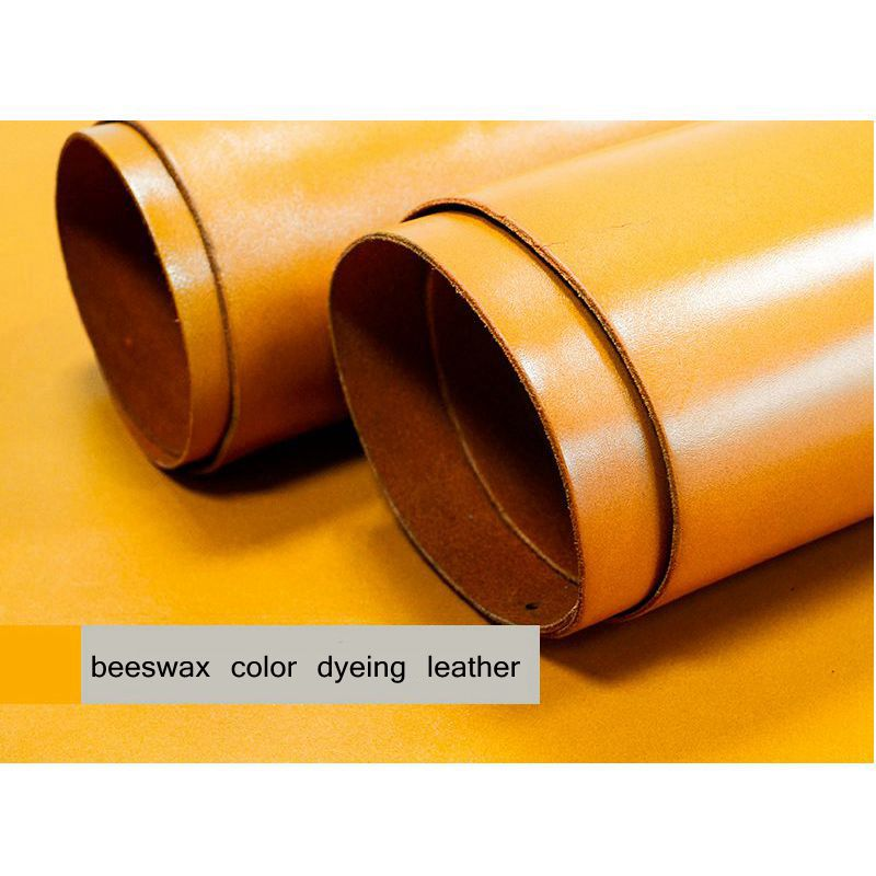 Vegetable tanned leather first layer leather handmade diy leather whole vegetable tanned skin 2mm image