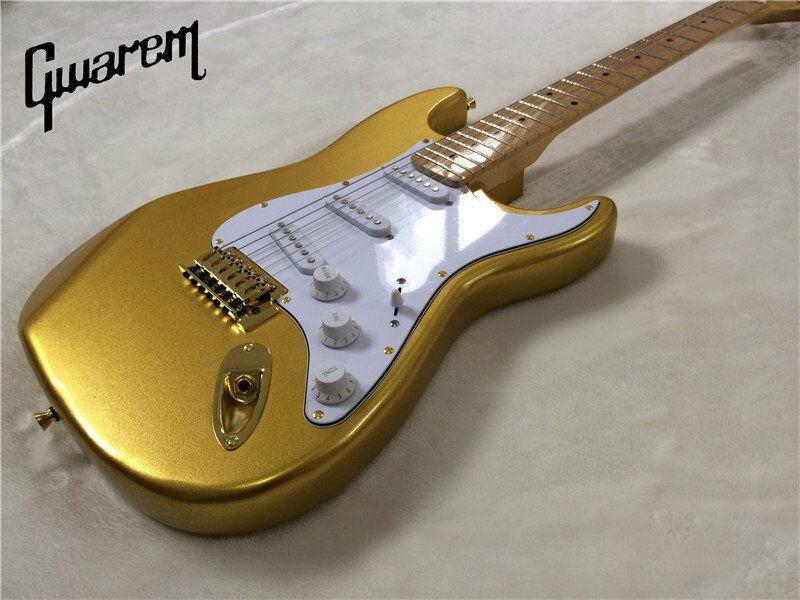 E-Gitarre / Gwarem neue Gitarre Goldfarbe / Gitarre in - Musikinstrumente - Foto 1