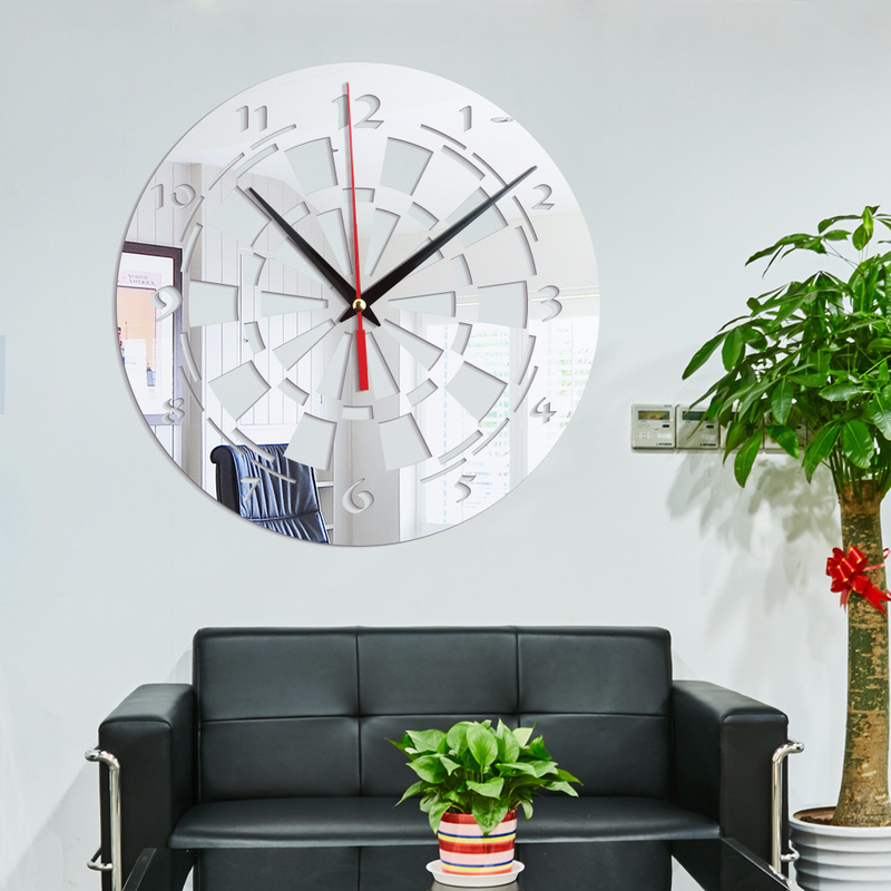 target clocks living room black white and gold decor creative wall stickers dart home decoration mirror acrylic atmospheric minimalist round mute art simple in from garden