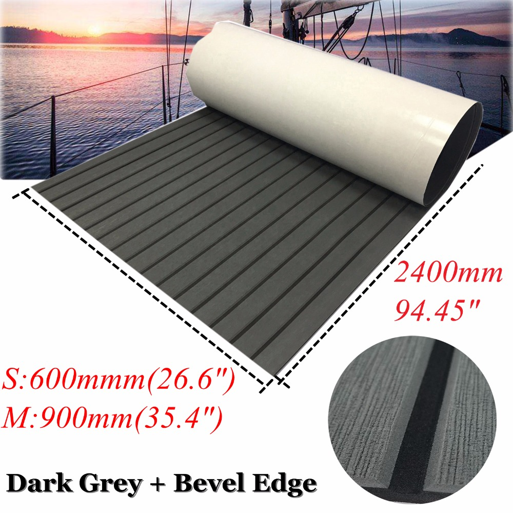 EVA Faux Teak Decking For Boat Yacht Marine Flooring Carpet 60x240cm/90x240cm EVA Foam Dark Grey In Black Accessories