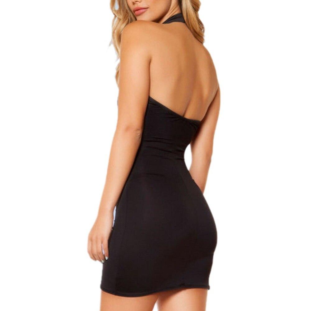 Frauen Kleid 2017 Sexy Schwarze Ärmellose Nacht Party Kleid Trendy ...