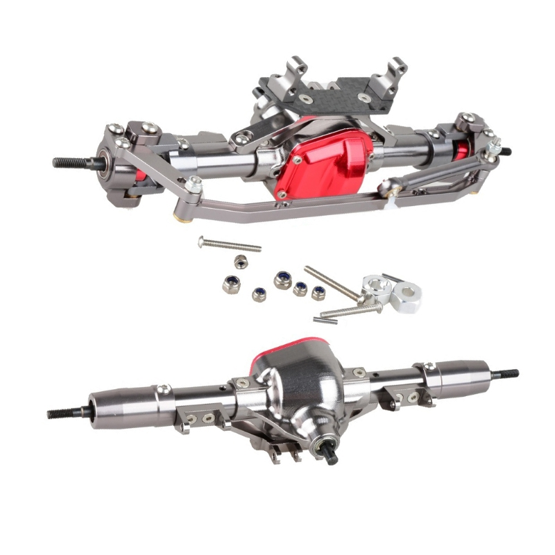 1/10 Car Front And Rear Axle Set for 1:10 RC Car Crawler AXIAL SCX10 RC4WD D90 Drop shipping rc car 1 10 metal complete alloy front and rear axles for 1 10 rc crawler d90 scx10 rc4wd axial yota 2