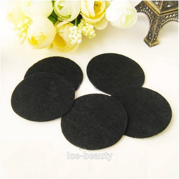 Black Color High Quality 8 cm Large Circles Felt Pads for Flower Round Felt Patches DIY Fake Fabric Flower Flatback Accessories