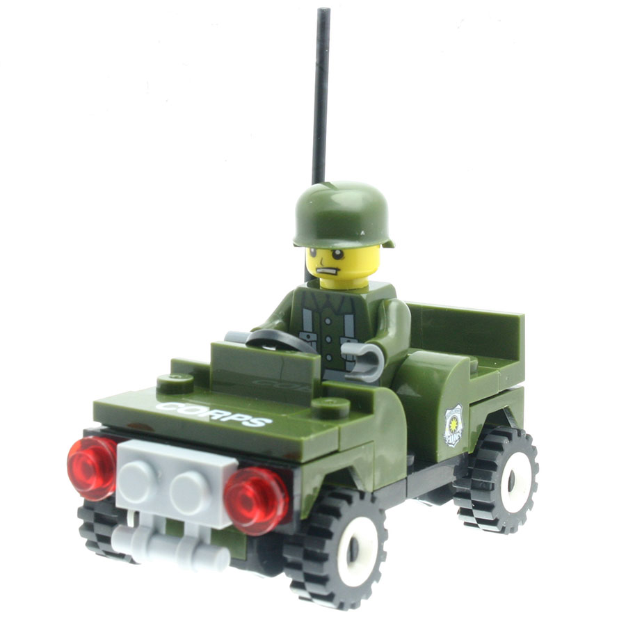 47Pcs/set Marine Corps Car Model Figures Educational Toys for Boys Girls Stacking Blocks Compatible with All Brands DT0048