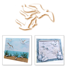YaMinSanNiO 5PCS Sea Birds Metal Animal Dies Cutting Scrapbooking for Card Making Template and Embossing 2019