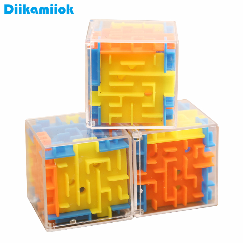3.8cm 3D Cube Puzzle Rotating Maze Ball Toy Hand Game Case Box Fun Brain Game Balance Early Learning Toys For Children SC-E08