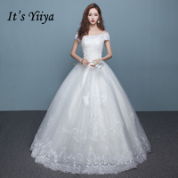 It S YiiYa Off White New Sleeveless Boat Neck Bride Gown Bling Sequined Plus Size Pregnant