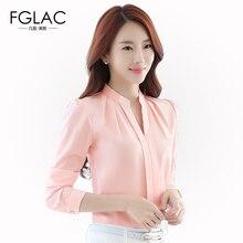 New Spring chiffon blouse Fashion Casual Long-sleeved women shirts