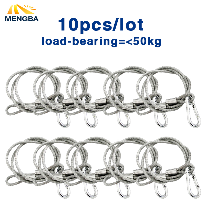 10pcs Stage Light Safety Cables 80cm Length Safety Durable Steel Safety Rope For All Stage Disco Light Fixtures