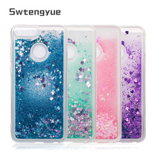 Honor 9 lite Liquid Dynamic Phone case For Funda Huawei 10 Glitter Quicksand Cover P20