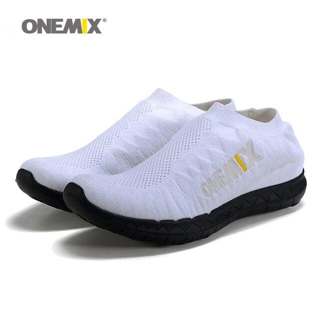 Visualizzza di più. ONEMIX antiscivolo Maglia Libera 3.0 Scarpe Da Corsa  per gli uomini Run Athletic Trainers Bianco Traspirante 105b13a07bc