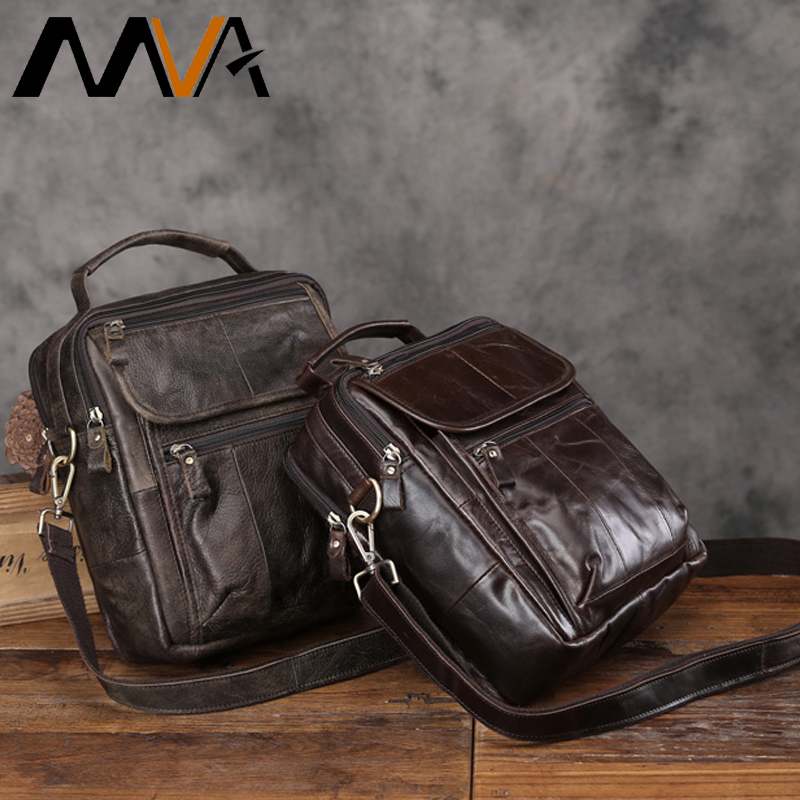 MVA Genuine Leather Men's Shoulder Bag Messenger Bag Men Leather Bags with Handles Casual Handbags Flap Crossbody Bags 2018