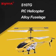 Syma s107g helicóptero de controle remoto 3ch liga fuselagem carregamento usb drone rc helicópteros com giroscópio luzes led
