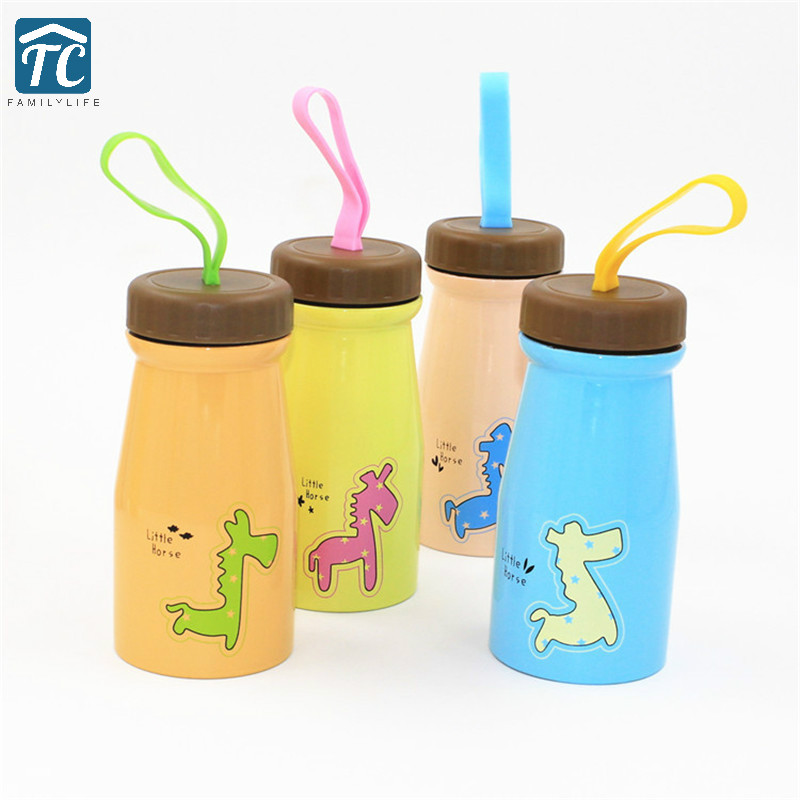 350ml Cartoon Water Bottles Stainless Steel Personalized Portable Student Leak Proof Simple Hiking Portable Drinkware Outdoor