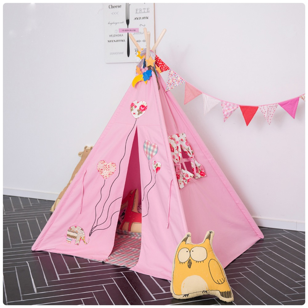 fessyc pink children room decorate dollhouse small house tent indoor