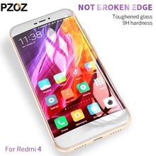 Pzoz xiaomi redmi 4 pro glass tempered full cover prime screen protector xiomi redmi 4 glass film original xaomi 4 redmi4 2.5D